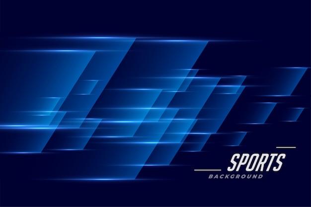 スピードエフェクトスタイルの青いスポーツバックグラウンド 無料ベクター