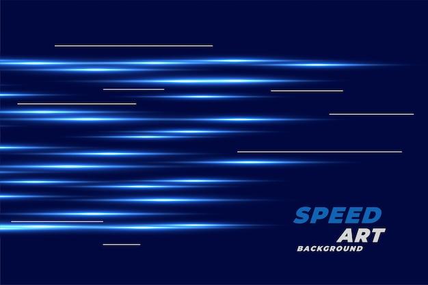 線形の輝くラインと青色の背景 無料ベクター