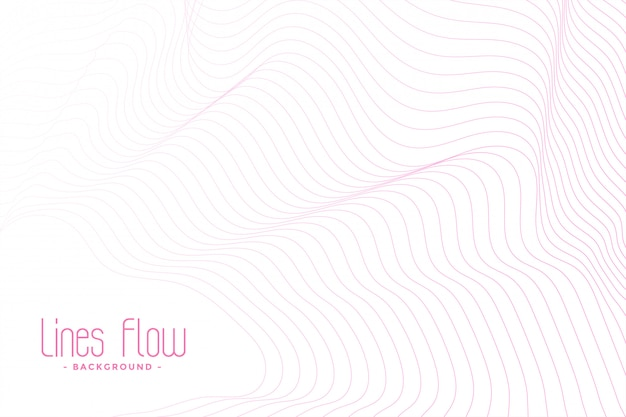 Белый фон с розовыми плавными линиями Бесплатные векторы