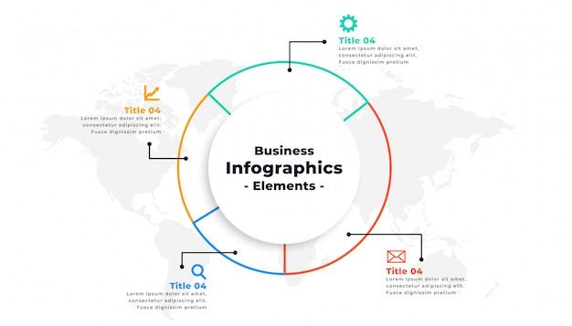 細い線インフォグラフィックビジネスプレゼンテーションコンセプトデザイン 無料ベクター