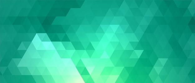 ターコイズ色の抽象的な三角形パターン図形 無料ベクター