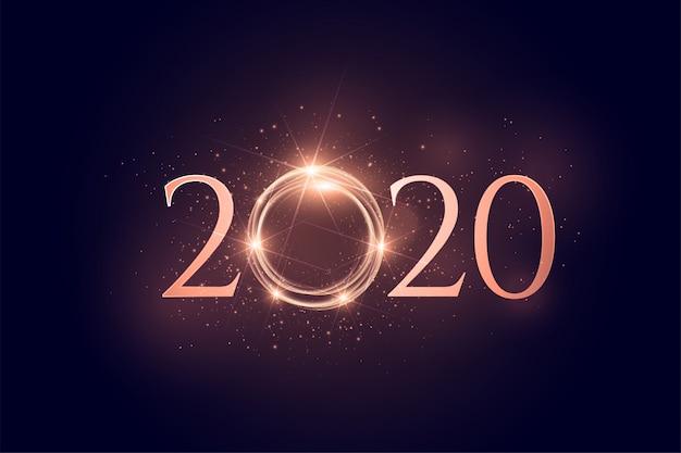 Светящийся фон с новым годом Бесплатные векторы