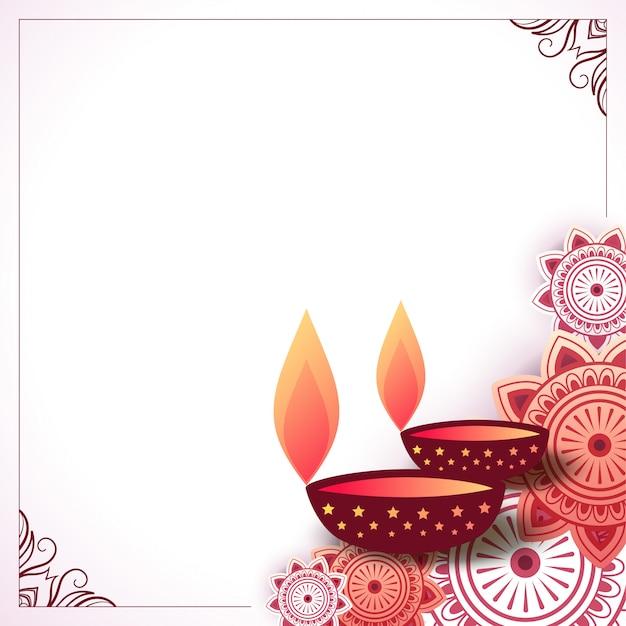 Индийский декоративный фон счастливого дивали Бесплатные векторы
