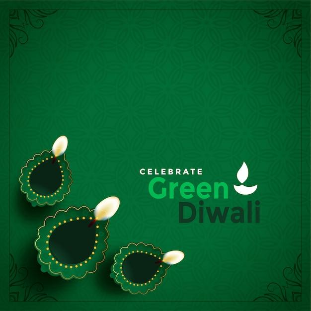 Стильный зеленый дивали концепции красивые иллюстрации Бесплатные векторы