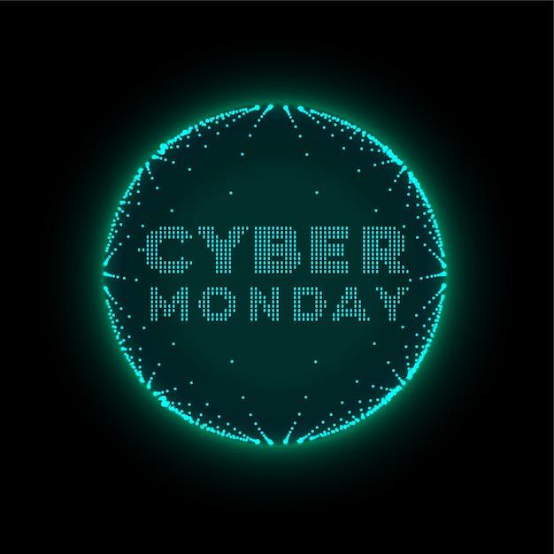 サイバー月曜日技術スタイルの未来的な背景 無料ベクター