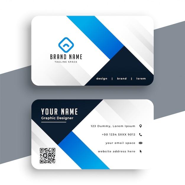現代の企業の青い名刺テンプレート 無料ベクター