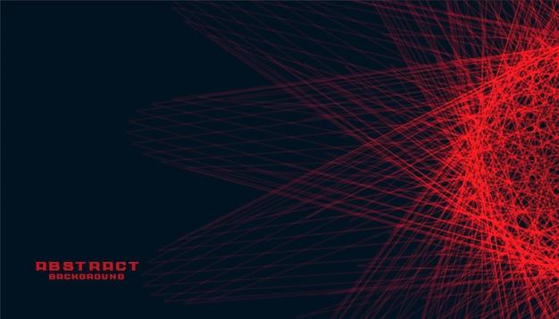 輝く赤い線と抽象的な黒の背景 無料ベクター