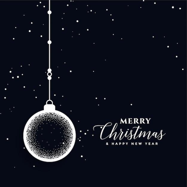創造的なメリークリスマスボール装飾祭カード 無料ベクター