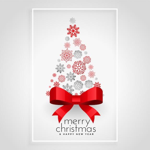 Креативная новогодняя елка со снежинками Бесплатные векторы