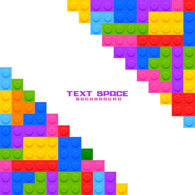 Строительные пластиковые блоки игрушки игровой фон Бесплатные векторы