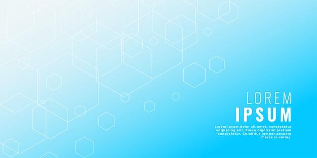 きれいな青い六角形ライン医療スタイルの背景 無料ベクター