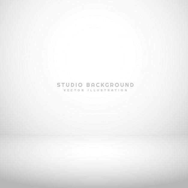 空の白いスタジオの背景 無料ベクター