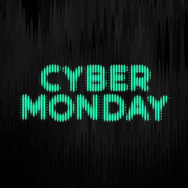 サイバー月曜日デジタルスタイル技術バナーデザイン 無料ベクター