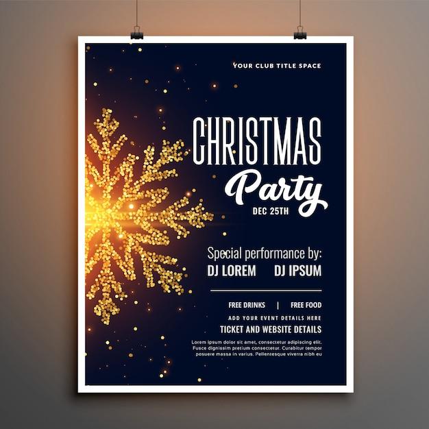 創造的なクリスマスパーティーのフライヤーカバーテンプレートデザイン 無料ベクター