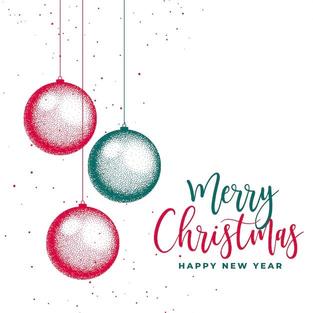 メリークリスマスフェスティバルカードの創造的な背景 無料ベクター