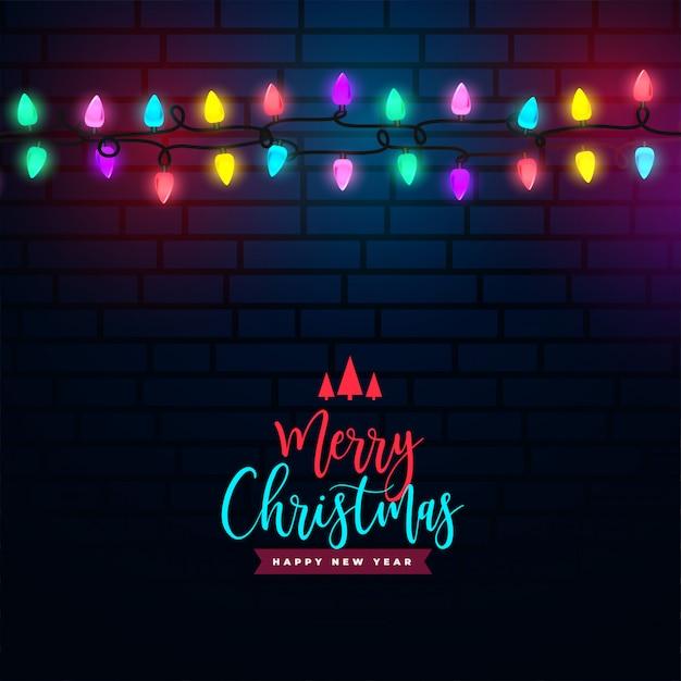 Счастливого рождества красочный светлый фон украшения Бесплатные векторы