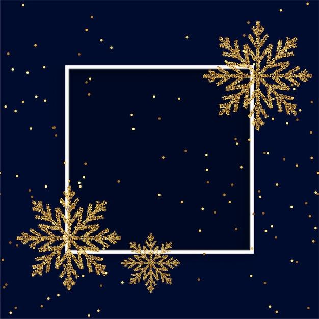 フレームとメリークリスマスのグリーティングカードの背景 無料ベクター