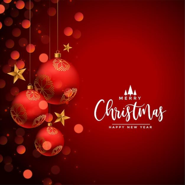 Открытка с новым годом и рождеством Бесплатные векторы