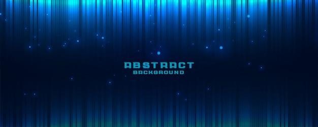 Абстрактный светящийся синий баннер фон с вертикальными линиями Бесплатные векторы
