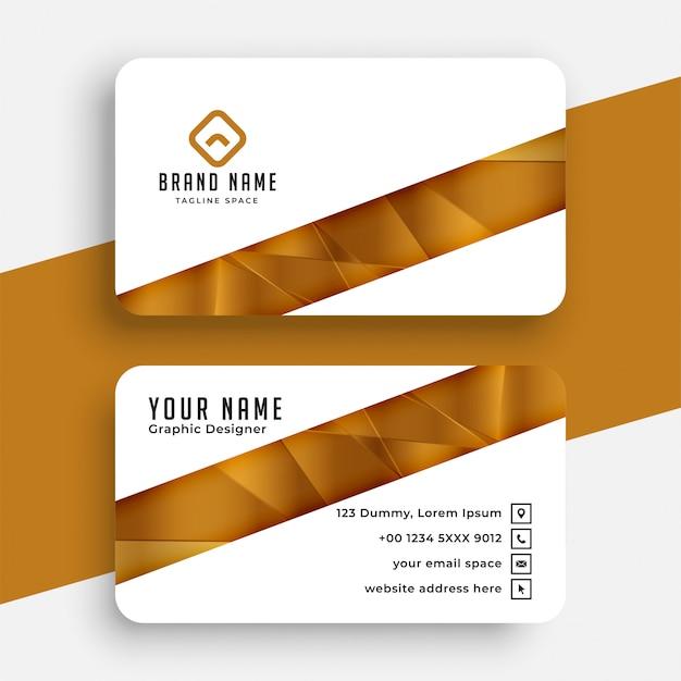 Белый и золотой шаблон дизайна визитной карточки Бесплатные векторы
