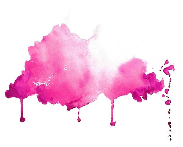 抽象的なピンクの手描きの水彩テクスチャ背景 無料ベクター