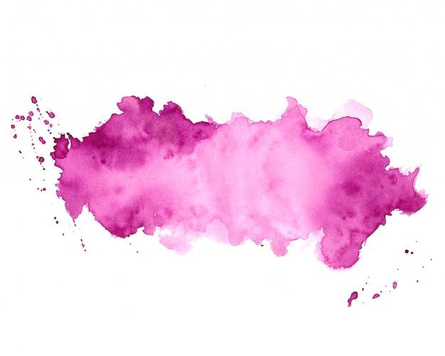 抽象的な紫水彩汚れテクスチャ背景デザイン 無料ベクター