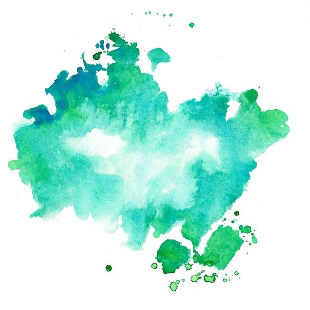ターコイズとブルーの水彩テクスチャ染色の背景 無料ベクター