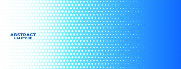 抽象的な青と白のハーフトーン広い背景バナー 無料ベクター