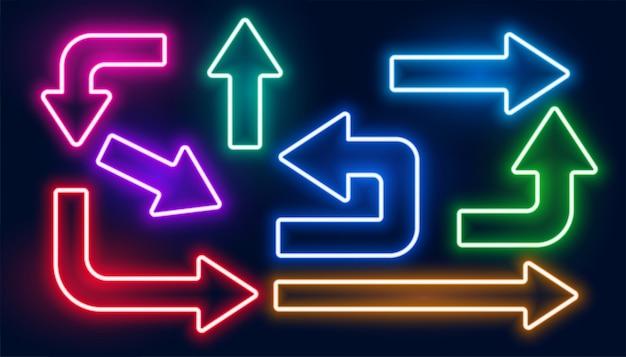 Набор разноцветных стрелок Бесплатные векторы