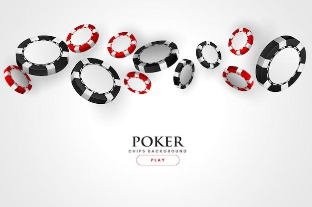 Казино покер фон красные и черные фишки Бесплатные векторы