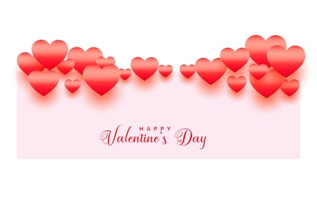 С днем святого валентина блестящий фон сердца Бесплатные векторы