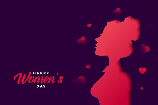 美しい色で幸せな女性の日グリーティングカード 無料ベクター