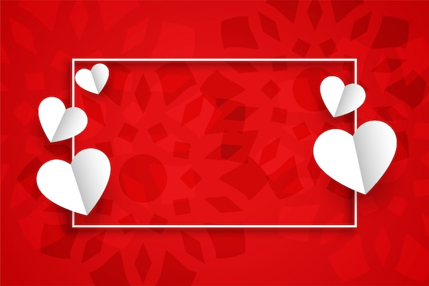 テキストスペースでバレンタインデーの赤い背景 無料ベクター