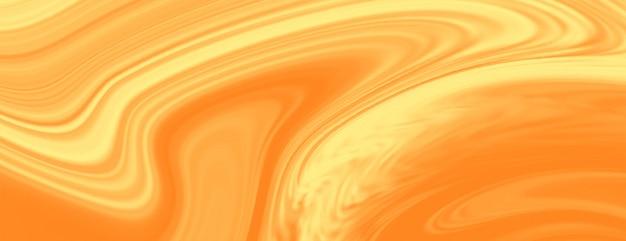 明るい黄色の液体大理石テクスチャバナー 無料ベクター
