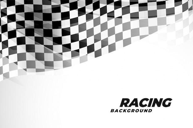 スポーツとレースのチェックフラッド背景 無料ベクター