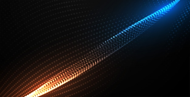 デジタル流れる粒子技術の背景 無料ベクター