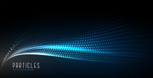 Абстрактный цифровой технологии фон частиц волны Бесплатные векторы