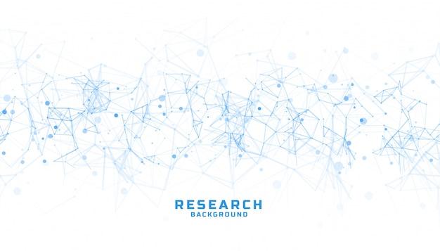 科学と研究の背景に抽象的な線 無料ベクター