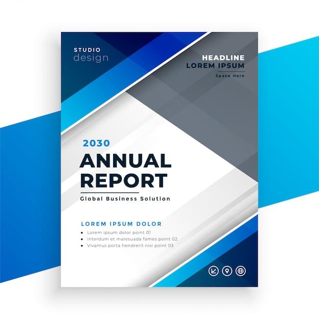 Абстрактный синий современный бизнес годовой отчет Бесплатные векторы