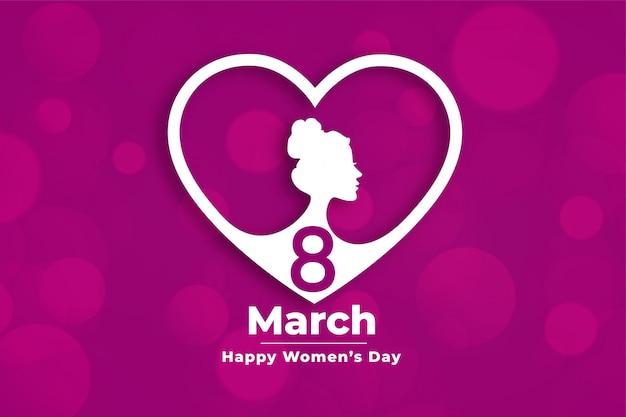 Креативный женский день событий баннер в стиле сердца Бесплатные векторы