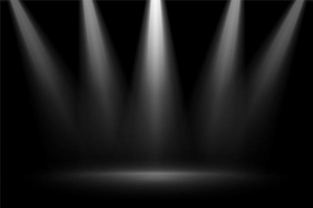 黒の背景にステージフォーカススポットライト 無料ベクター