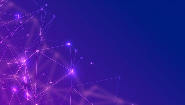 Абстрактные технологии частиц низкополигональная фон Бесплатные векторы