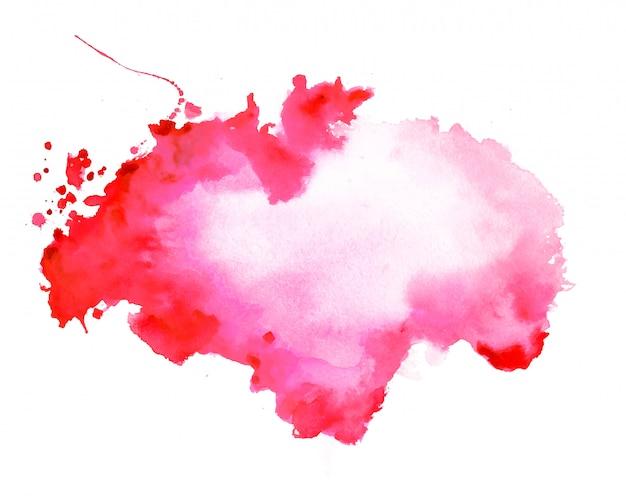 抽象的な赤い水彩汚れテクスチャ背景 無料ベクター