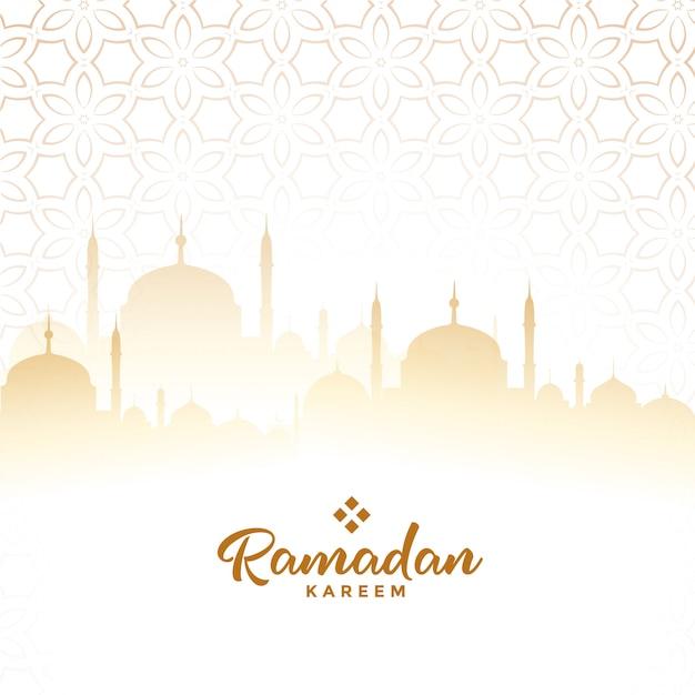 ラマダンカリームアラビア語祭りカード背景 無料ベクター