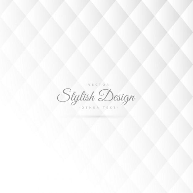 スタイリッシュな白のパターン設計 無料ベクター