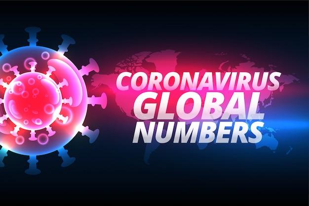 コロナウイルスがウイルス細胞を伴う世界的な背景 無料ベクター