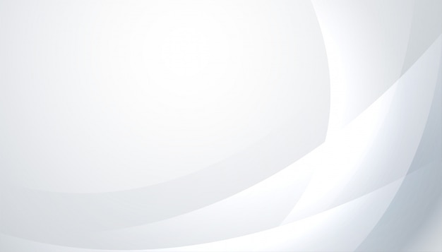 Блестящий белый и серый фон с волнистыми линиями Бесплатные векторы