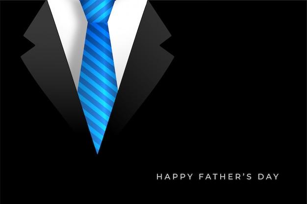 Счастливый день отцов фон с пальто и галстуком Бесплатные векторы