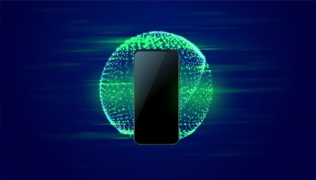デジタルモバイルテクノロジーの高速背景 無料ベクター