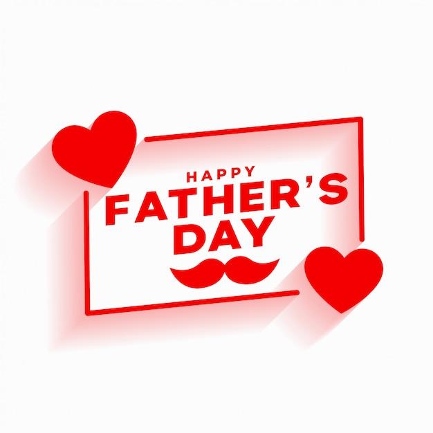 Счастливый день отцов красный любовь отношения Бесплатные векторы